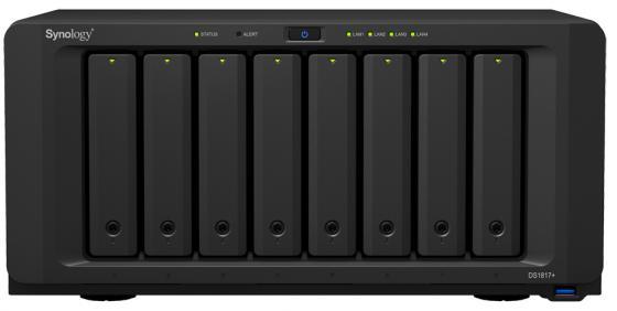 Сетевой накопитель Synology DS1817+(8GB) сетевой накопитель synology rs217