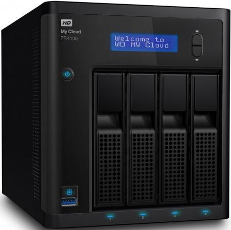 Сетевое хранилище WD My Cloud Pro PR4100 WDBKWB0000NBK-EEUE накопитель на жестком магнитном диске wd сетевой накопитель wd my cloud pro pr4100 wdbkwb0000nbk eeue 0гб nondrive 3 5 lan nas