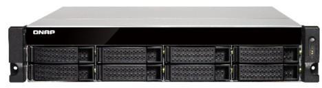 Сетевой накопитель QNAP TS-853BU-4G Сетевой RAID-накопитель, 8 отсеков для HDD, стоечное исполнение, 1 блок питания. Intel Celeron J3455 1,5 ГГц, 4 ГБ