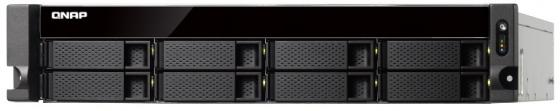 Картинка для Сетевой накопитель QNAP TS-873U-8G Сетевой RAID-накопитель, 8 отсеков для HDD, 2 порта 10 GbE SFP+, 2 слота M.2 SSD, стоечное исполнение, 1 блок питан