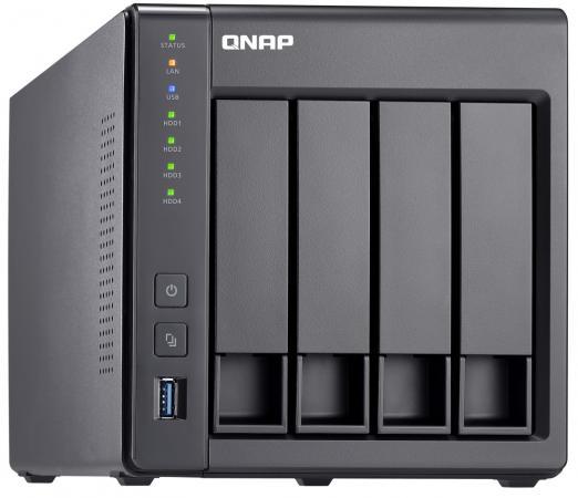 Сетевой накопитель QNAP TS-431X2-2G Сетевой RAID-накопитель, 4 отсека для HDD, 10 GbE SFP+. ARM Cortex-A15 Annapurna Labs AL-314 1,7 ГГц, 2 ГБ.