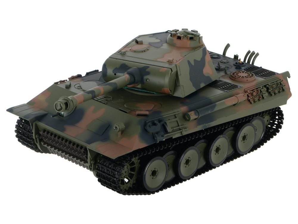 Танк Ginzzu Р/У, 1:16, German Panther [3819-1 Pro], дым henglong 3818 3818 1 german tiger i 3819 3819 1 german panther 1 16 rc tank upgrade parts metal track metal driving wheels