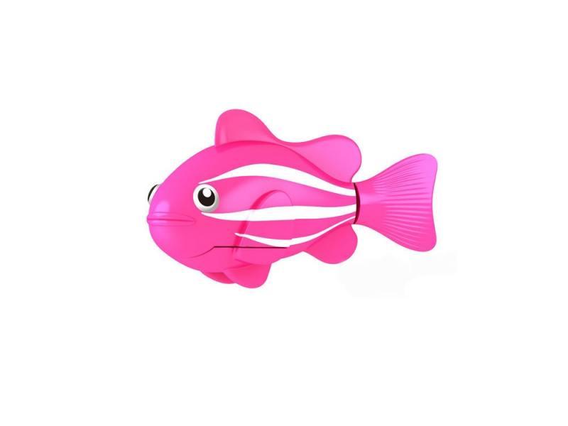 Интерактивная игрушка ZURU Robofish Клоун электронная рыба робот от 3 лет розовый 2501-2