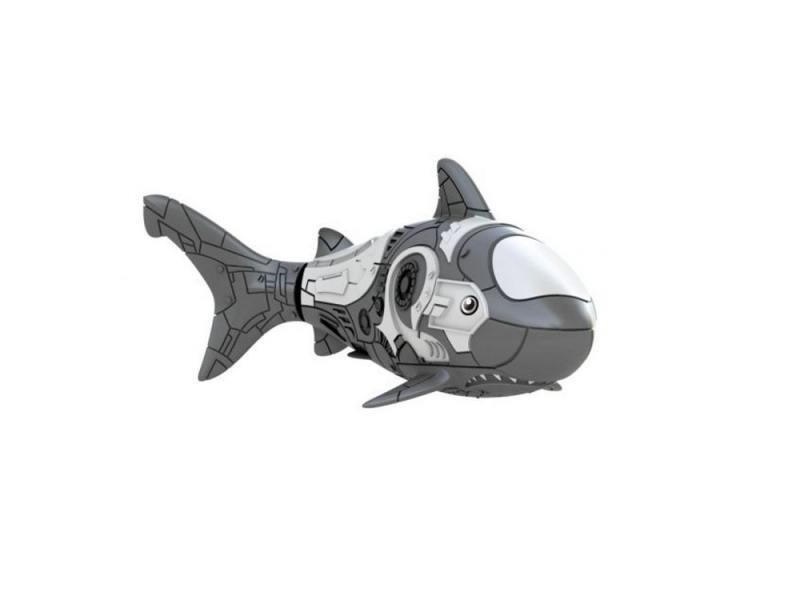 Интерактивная игрушка ZURU RoboFish акула плавает в воде от 3 лет серый 2501-6