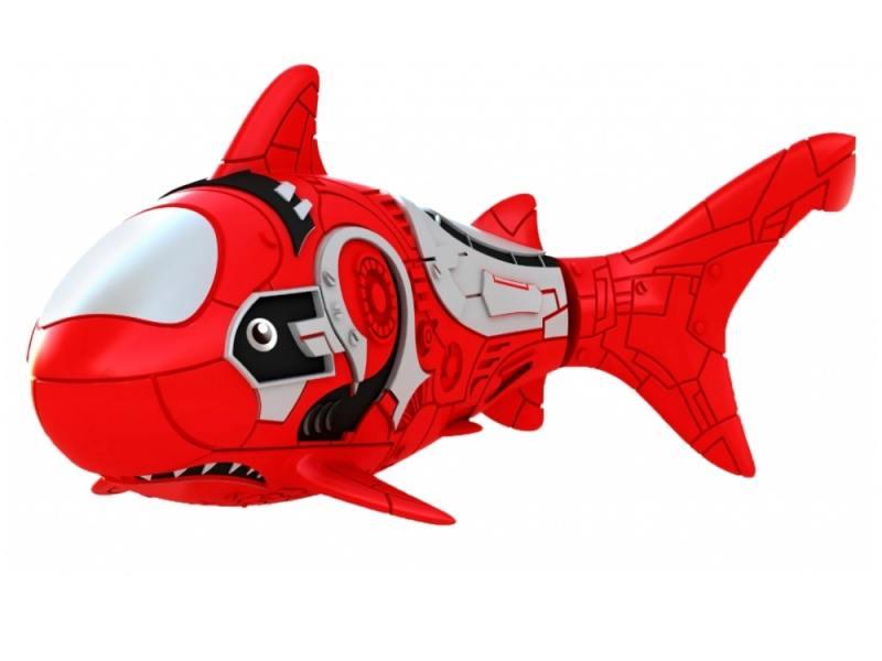 Интерактивная игрушка ZURU RoboFish акула плавает в воде от 3 лет красный