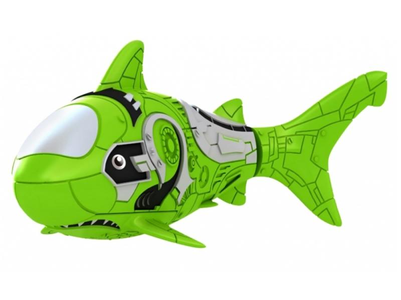 Интерактивная игрушка ZURU RoboFish акула плавает в воде от 3 лет зелёный 2501-7 zuru бейли в водяном шарике в поисках дори zuru
