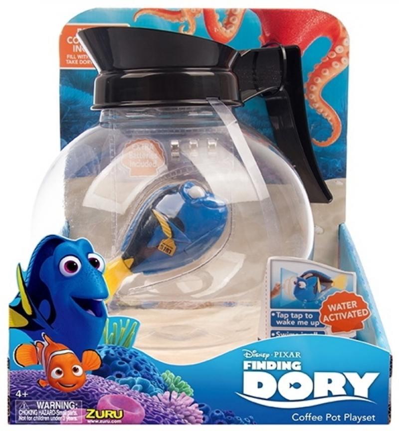 Интерактивная игрушка ZURU РобоРыбка Дори и аквариум-кофейник от 4 лет синий 25171