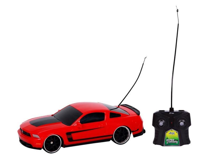 Машинка на радиоуправлении Jada 2012 Ford Mustang Boss 302 красный от 8 лет пластик