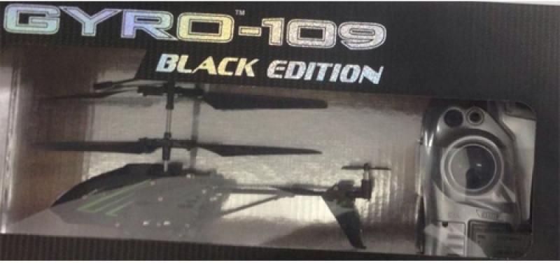 Вертолёт на радиоуправлении 1TOY GYRO-109 - Black Edition черный от 8 лет металл игрушка 1toy gyro 109 вертолет с гироскопом т52819