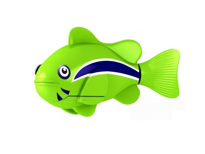 Интерактивная игрушка ZURU Robofish Клоун электронная рыба робот от 3 лет зелёный 2501-1