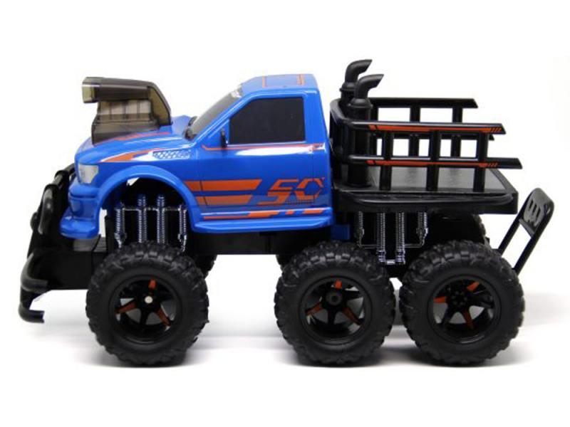 Внедорожник на радиоуправлении Пламенный мотор Автогиганты 6*6 синий от 4 лет пластик 87581