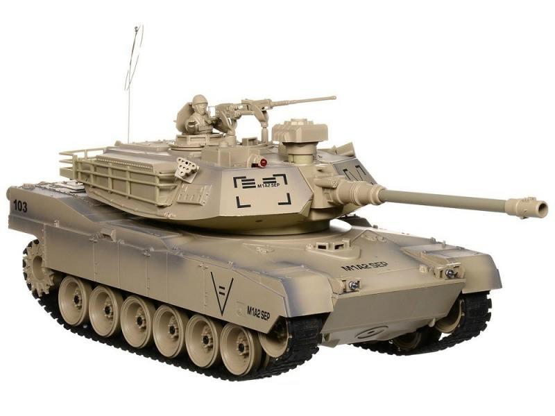 Танк на радиоуправлении Пламенный Мотор Abrams М1А2 (США) 1:18 коричневый от 8 лет пластик 87560