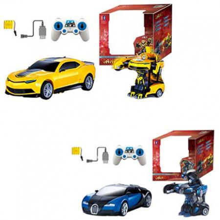 Машина--трансформер на радиоуправлении 1toy 1:14, движ. во всех направлениях, со звуком, с аккумулят