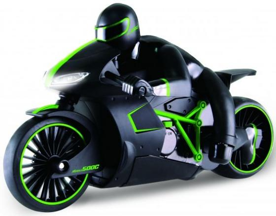 1toy Драйв, мотоцикл с гонщиком на р/у, 2,4GHz, езда с наклоном, свет фар, с АКБ 700mAh Ni-CD, зелен hot wheels мотоцикл с гонщиком цвет черный зеленый