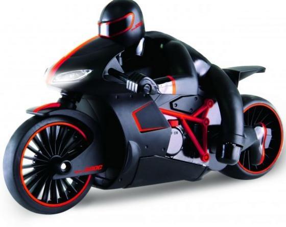 1toy Драйв, мотоцикл с гонщиком на р/у, 2,4GHz, езда с наклоном, свет фар, с АКБ 700mAh Ni-CD, красн