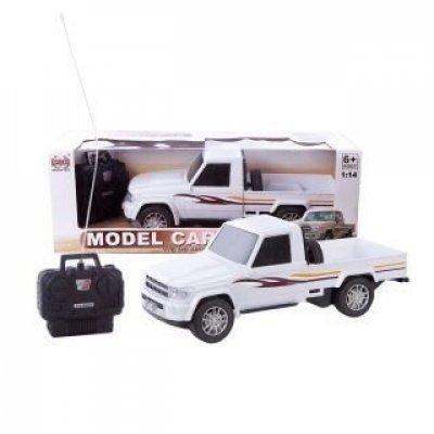 Машинка на радиоуправлении Shantou Gepai Джип пикап 1:14 белый от 6 лет пластик 635369