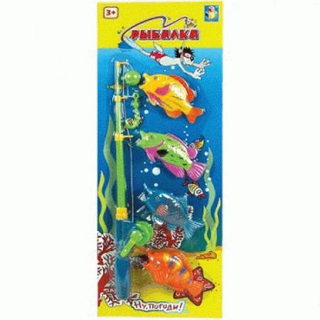 1toy Ну Погоди Игра рыбалка на блистере, 4 рыбки, 52х19 см головоломка 1toy вантой звездочка в блистере
