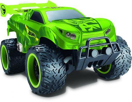Hot Wheels багги бигвил на р/у, со светом, скорость 8км/ч, с АКБ, зелёная 1toy hot wheels багги на р у 1 18 со светом синяя т10977