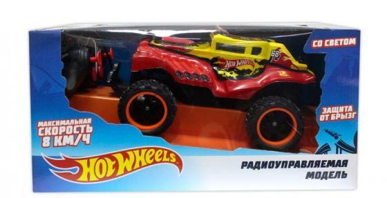 Hot Wheels багги бигвил на р/у, со светом, мягкий съёмный корпус, защита от влаги, скорость 8км/ч, с 8887856109864 1toy hot wheels багги на р у 1 18 со светом синяя т10977