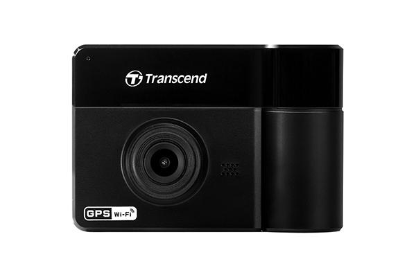 Автомобильный Видеорегистратор Transcend DrivePro 550 (WIFI + microSD 32Gb, ДВЕ КАМЕРЫ, GPS)