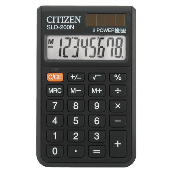 Калькулятор CITIZEN SLD-200N, карманный, 8-разр. от OLDI