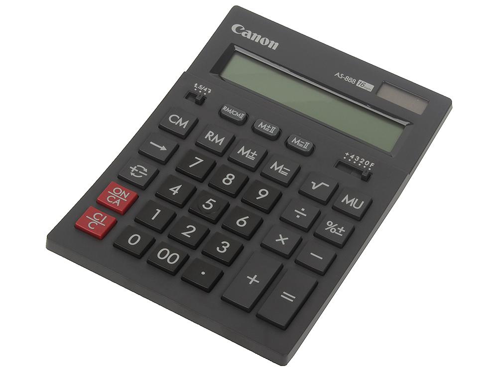 Canon AS-888-BK ЧЕРНЫЙ кальк.наст.16 разр.2-ое пит.2 памяти калькулятор canon as 888