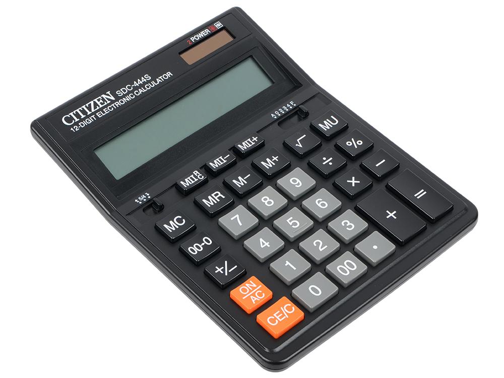 Калькулятор Citizen citSDC-444S 12 разрядов калькулятор с печатью citizen 520dpa
