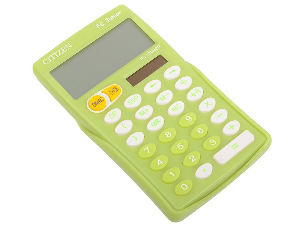 Калькулятор Citizen FC-100NGR JUNIOR салатовый 10-разрядный citizen наcтольный белый салатовый