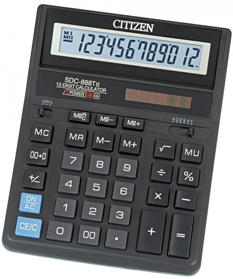 Калькулятор бухгалтерский Citizen SDC-888TII 12-разрядный