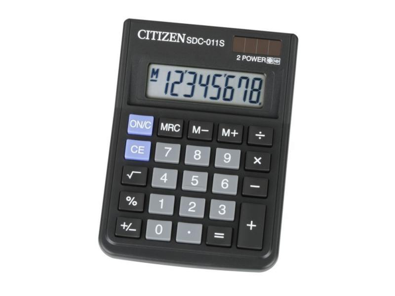 Калькулятор Citizen SDC-011S  8-разрядный citizen sdc 395n