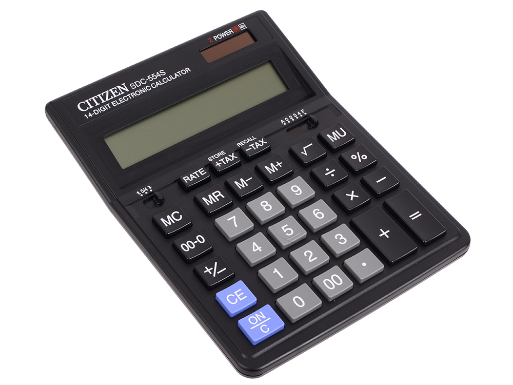 все цены на Калькулятор бухгалтерский Citizen SDC-554S 14-разрядный онлайн