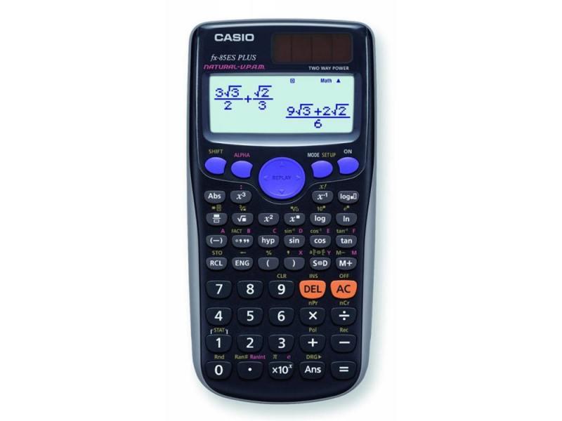 Калькулятор Casio FX-85ESPLUS двойное питание 12 разряда научный 252 функций черный калькулятор casio dh 12 коричневый черный