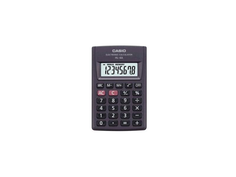 Калькулятор Сasio HL-4AS-ЕН питание от батареи 8 разряда большой дисплей черный