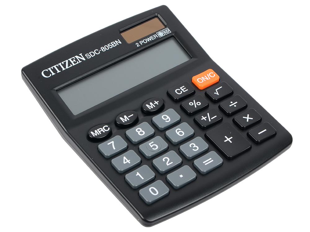 Калькулятор настольный Citizen SDC-805BN 8-разрядный калькулятор citizen sdc 888tii