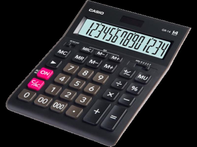 Калькулятор Casio GR-14 14-разрядный черный casio casio gr 7900nv 2