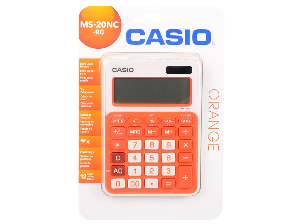 Калькулятор Casio MS-20NC-RG-S-EC 12-разрядный оранжевый калькулятор casio hr 150rce wa ec 12 разрядный черный