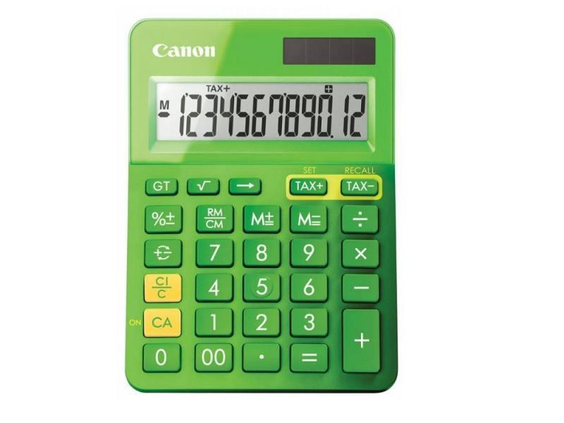 Калькулятор Canon LS-123K-MGR 12 разрядов зеленый