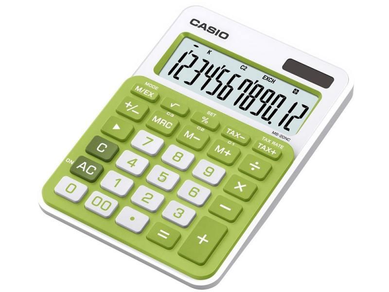 Калькулятор Casio MS-20NC-GN-S-EC 12-разрядный зеленый калькулятор casio hr 150rce wa ec 12 разрядный черный