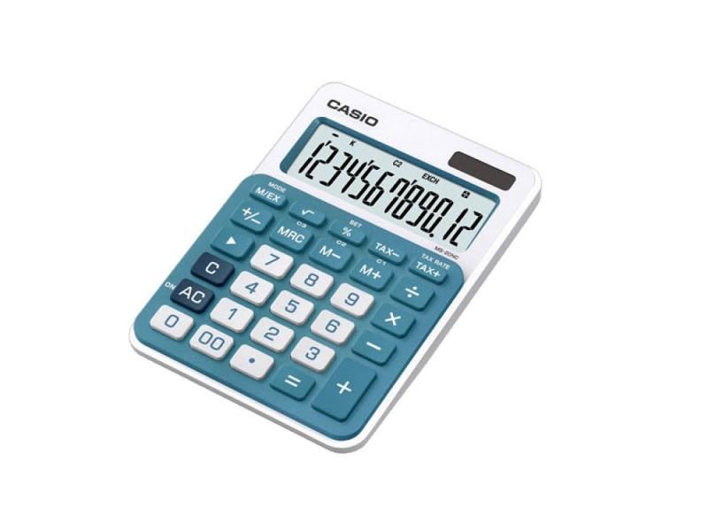 Калькулятор Casio MS-20NC-BU-S-EC 12-разрядный голубой калькулятор casio hr 150rce wa ec 12 разрядный черный