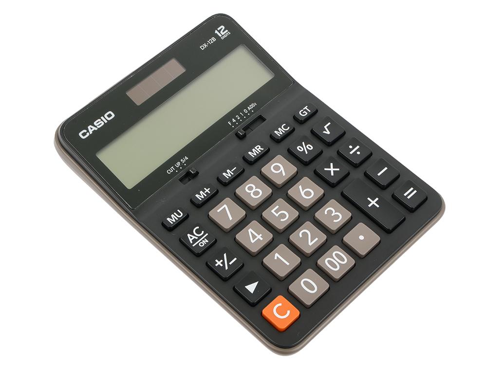 Калькулятор Casio DX-12B 12-разрядный коричневый/черный калькулятор casio dx 12b