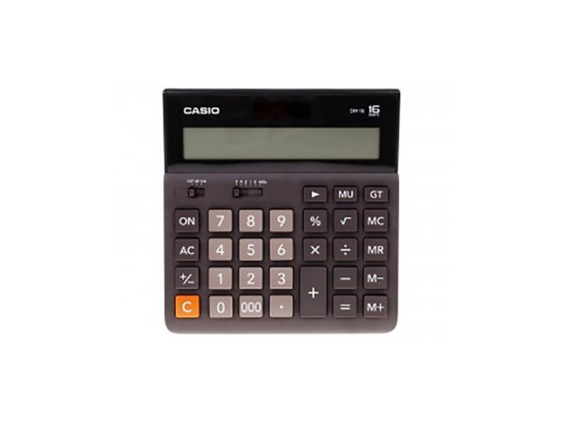 Калькулятор Casio DH-16-BK-S-EH 16-разрядный коричневый/черный калькулятор casio dx 12b 12 разрядный коричневый черный