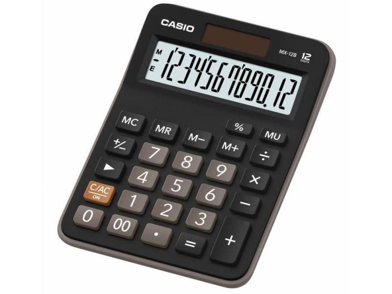 Калькулятор Casio MX-12B 12-разрядный коричневый/черный