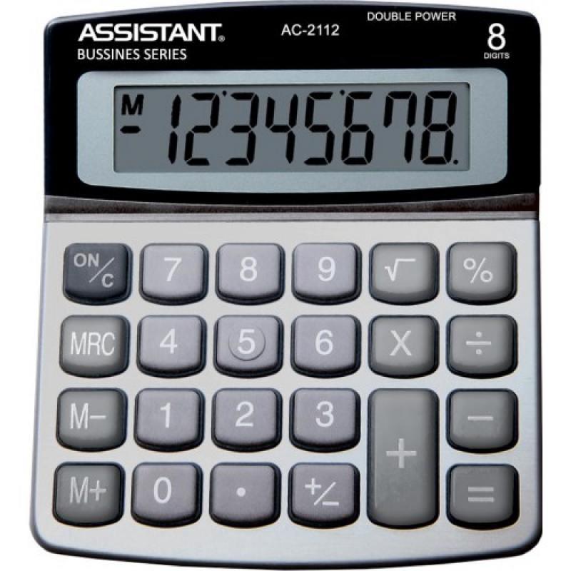 Калькулятор настольный Assistant AC-2112 8-разрядный  AC-2112 assistant assistant ah 1053 black