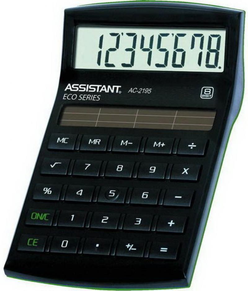 Калькулятор настольный Assistant AC-2195eco 8-разрядный AC-2195eco калькулятор assistant ac 1191 8 разрядный цвет серебристый