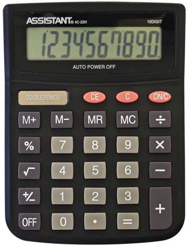 цена на Калькулятор настольный Assistant AC-2201 10-разрядный