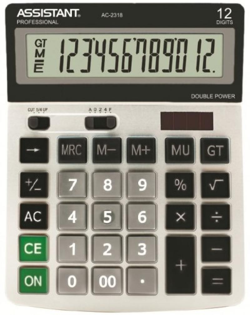 Калькулятор настольный Assistant AC-2318 12-разрядный AC-2318 калькулятор assistant ac 2329 12 разрядный цвет желтый
