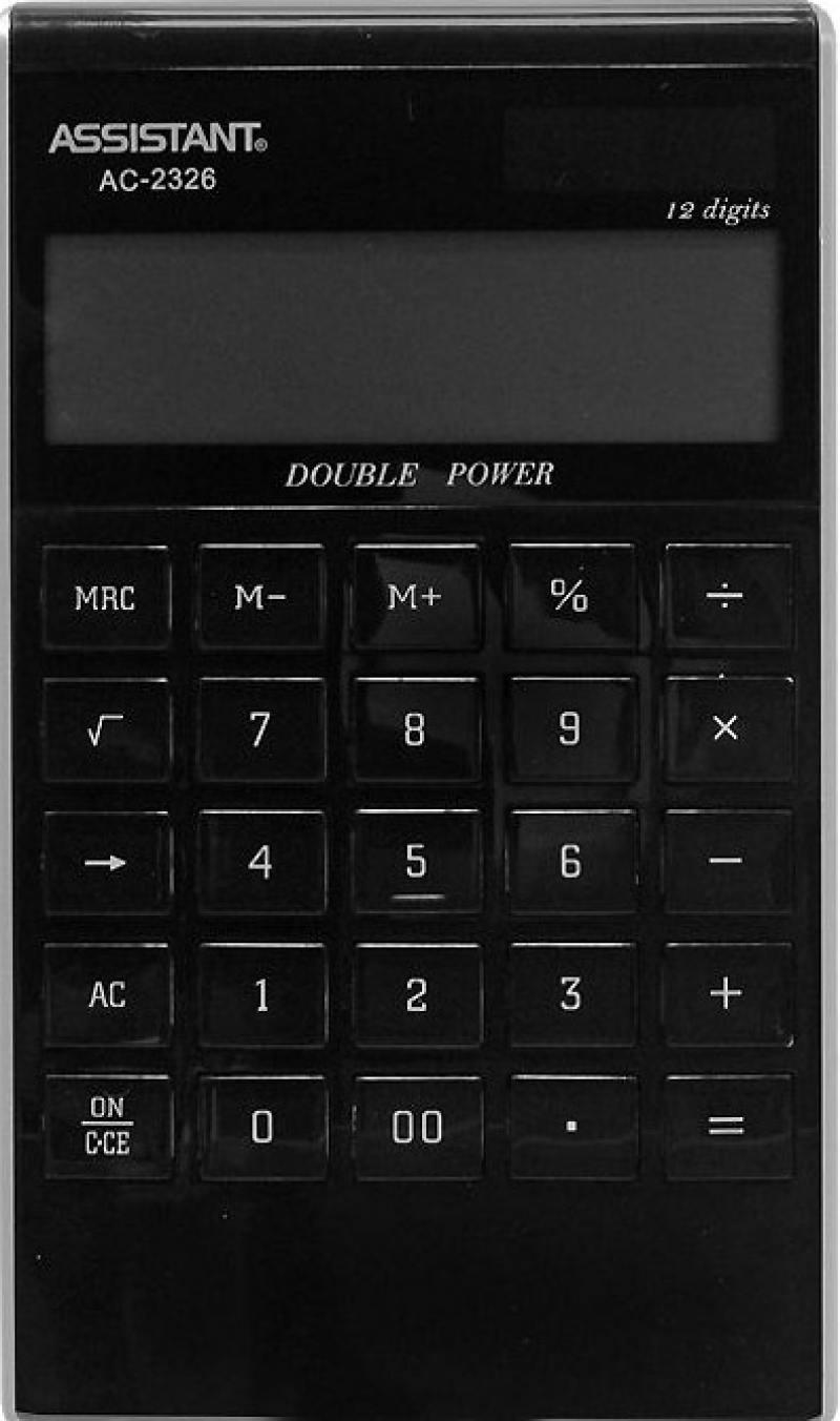 цена на Калькулятор настольный Assistant AC-2326 12-разрядный AC-2326 (в ассортименте)