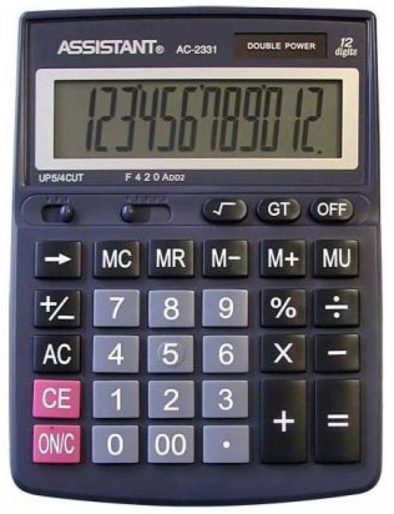 Калькулятор настольный Assistant AC-2331 12-разрядный AC-2331 стоимость
