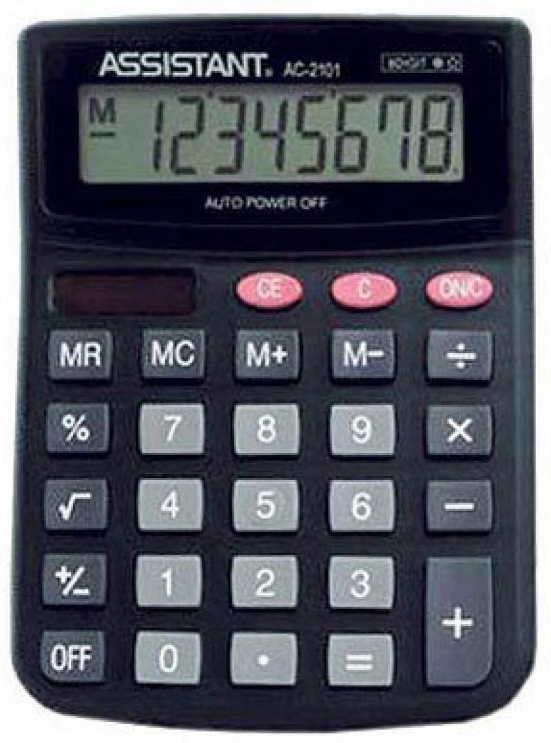 Калькулятор настольный Assistant AC-2101 8-разрядный AC-2101 калькулятор assistant ac 1121 8 разрядный