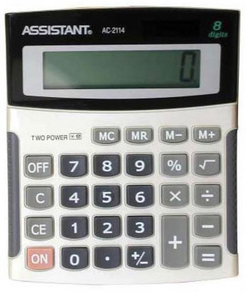 Калькулятор настольный Assistant AC-2114 8-разрядный AC-2114 калькулятор настольный assistant ac 2132 8 разрядный ac 2132